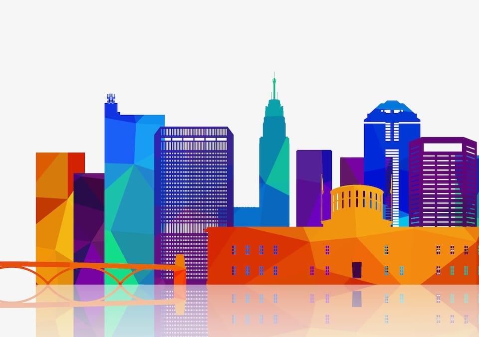 Columbus Ohio Skyline Event Venue